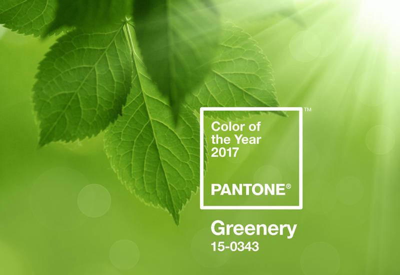สีเขียว Greenery